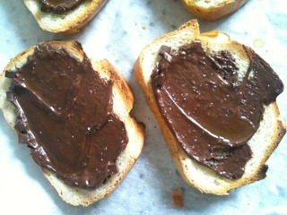 Lynne's special chocolate toasts