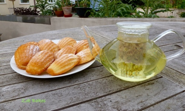 limeblossom tea in glass teapot