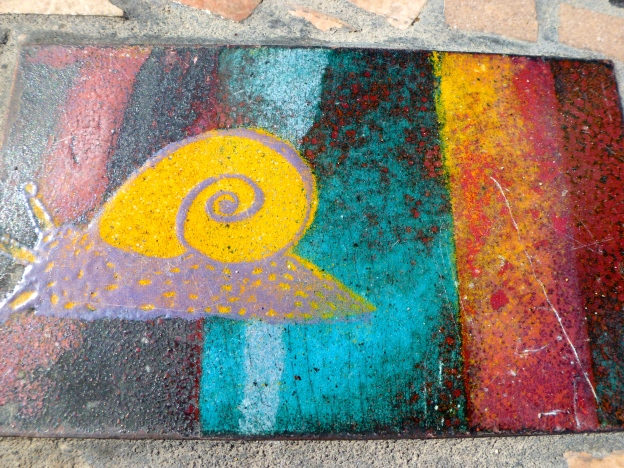 Mosaic Snail Goes for a slow Walk