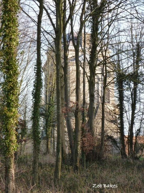 Worcester Lodge, Badminton through trees