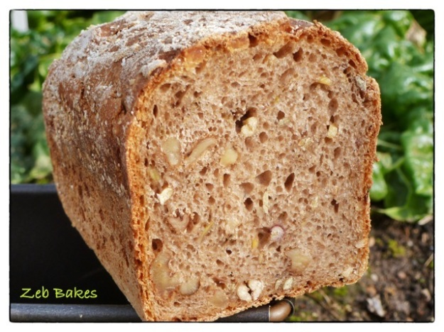 Walnut and Sprouted Grain Loaf Zeb Bakes