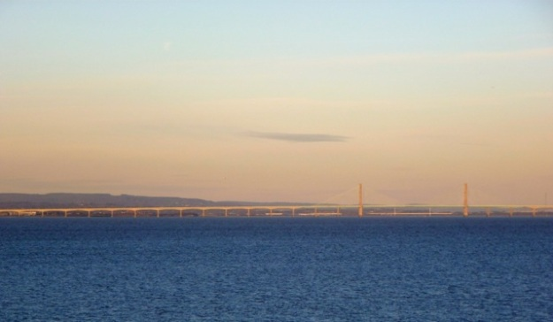 Looking towards the Second Severn Crossing