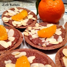 Clementine topped chocolate frangipane tarts