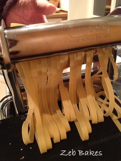 Tagliatelle making