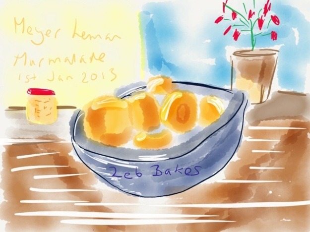 Zeb Bakes Marmalade with Meyer Lemons