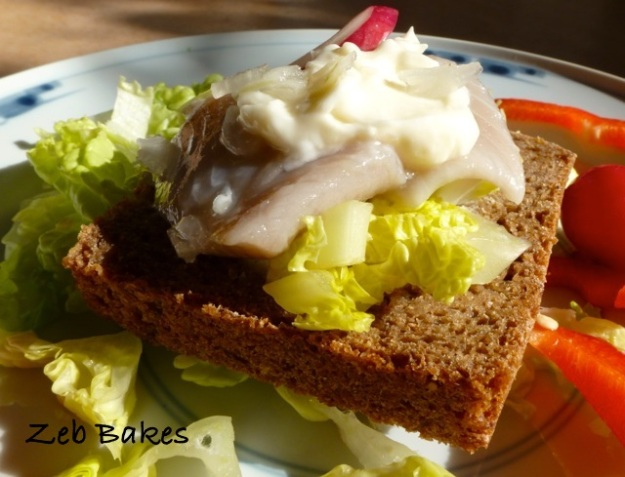 Dill herring on rye