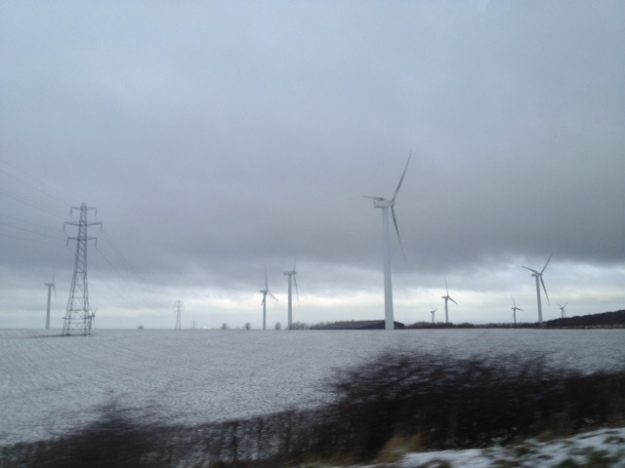 Windfarm on Cumbrian fields