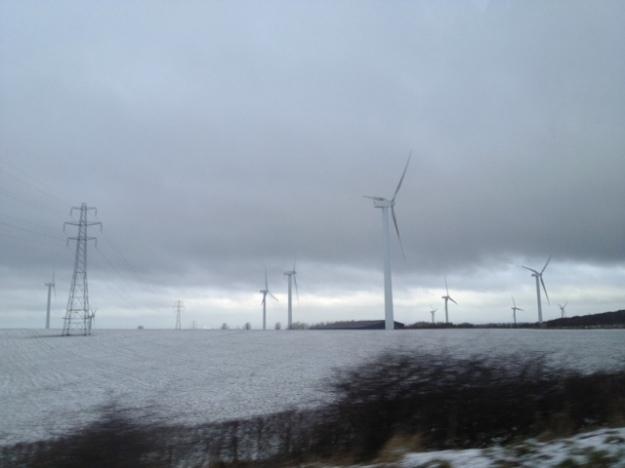Windfarm on Cumbrian fields