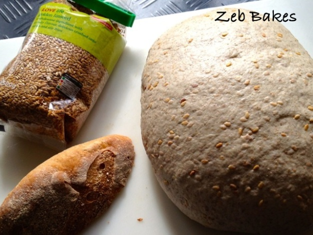 linseed old bread bread dough copyright zeb bakes