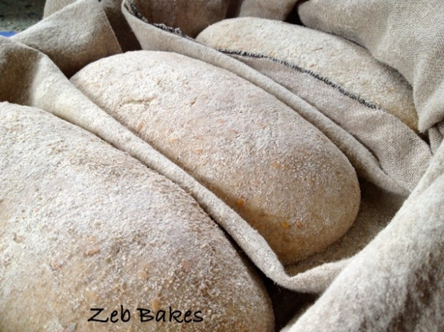 proving loaves in cloth copyright Zeb Bakes