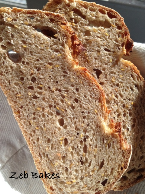 Rye and Linseed sourdough copyright Zeb Bakes