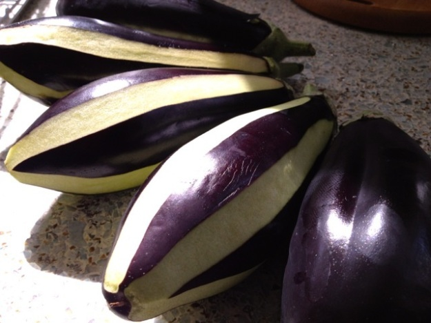 So pretty - aubergine preparation