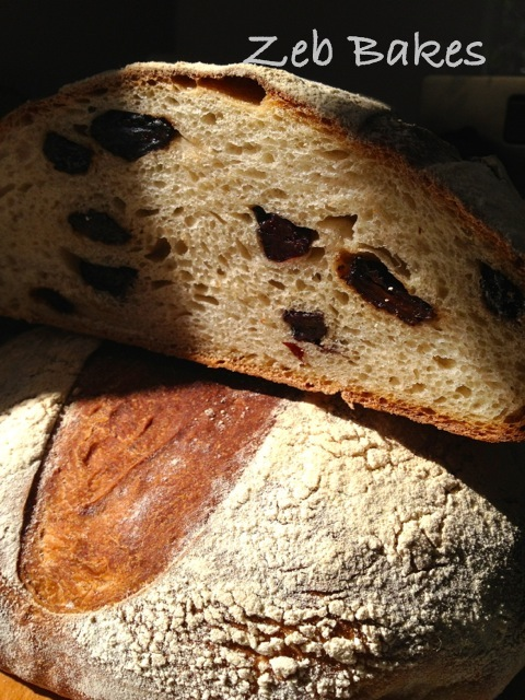 Copyright Zeb Bakes Raisin Goats Milk Kefir Bread