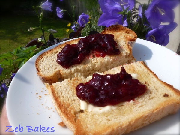 Toast and Cherry Jam