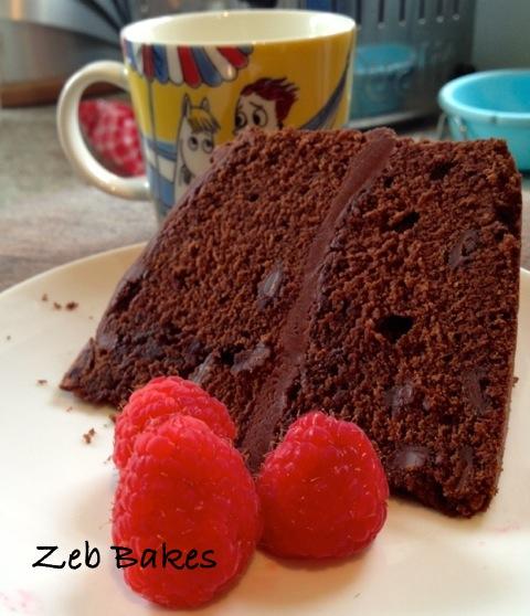 Dan Lepard's Chocolate Chip Victoria Sandwich Cake
