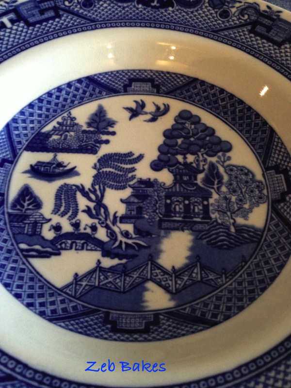 My grandmother's Willow Pattern soup bowl