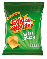 cheese and onion crisps Golden Wonder