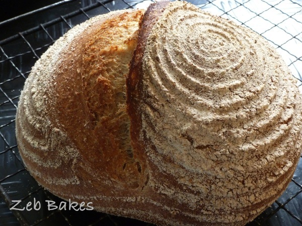 Tintin loaf of sourdough by Zeb Bakes