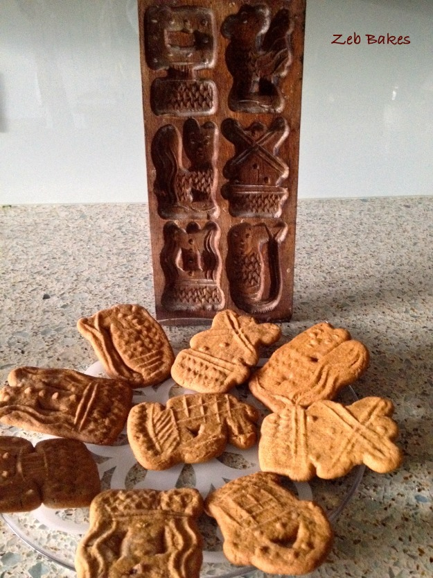 Speculaas Mould and Biscuits