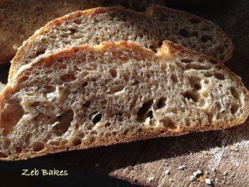 Crumb of 'sugar free' Kefir Levain