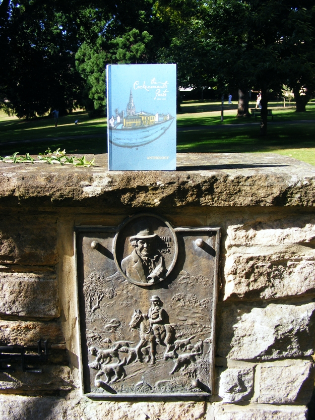 The Cockermouth Poets on John Graves Monument in St David's Park, Hobart