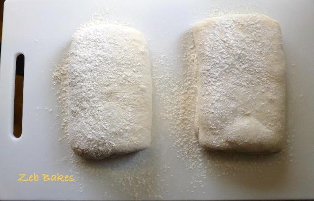 Two Lardy Cakes half way through prep
