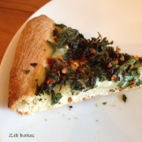 Light and fluffy nettle pizza