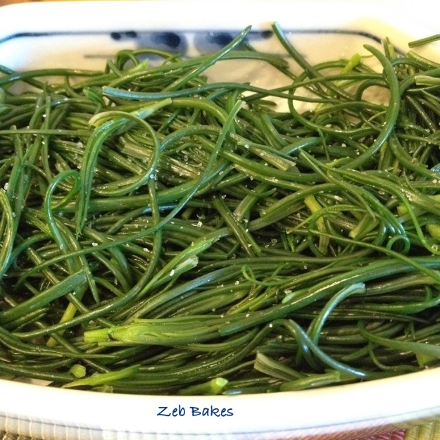 salsola agretti steamed